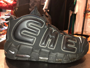 "Size 12 Air More Uptempo x Supreme ""Black"" *"