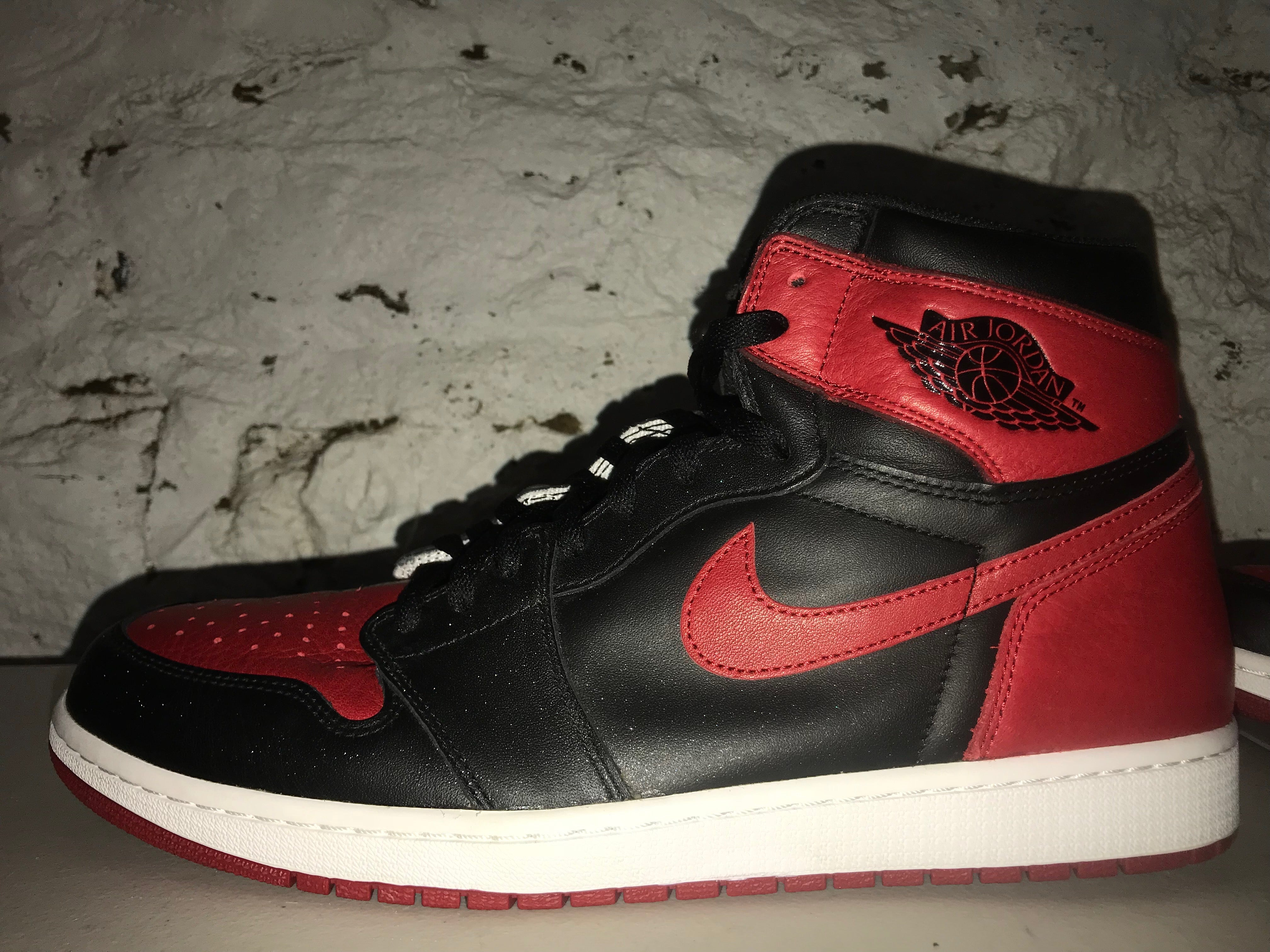 "Size 14 Air Jordan 1 ""Bred/Banned"" 2016"