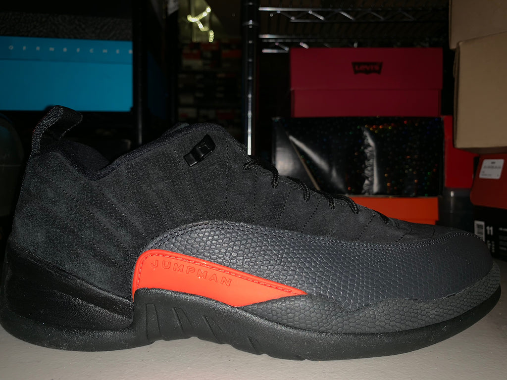 "Size 13 Air Jordan 12 Low ""Black/Orange"" Brand New"