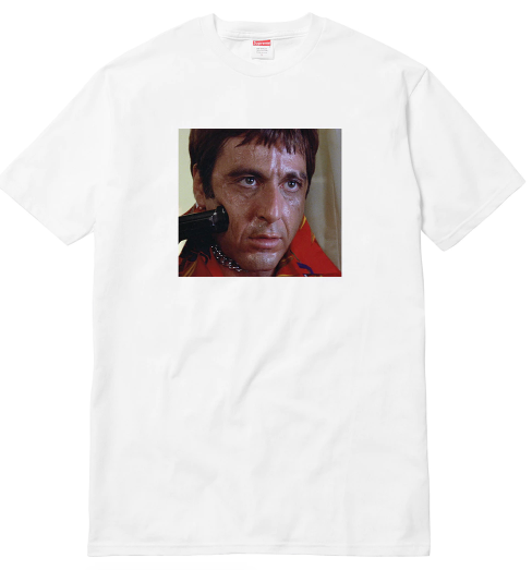 "Size Small Supreme Scarface Shower Tee ""White"""