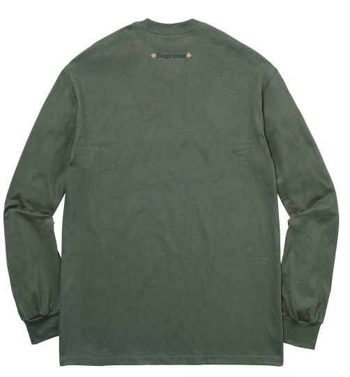 "Size Medium Supreme Independent F*** the Rest Long Sleeve Tee ""Olive Green"""