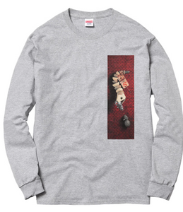 "Size Medium Supreme Mike Hill Snake Trap Long Sleeve Tee ""Grey"""