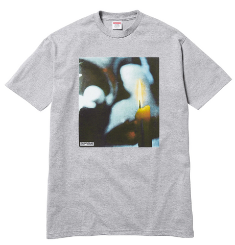 "Size Medium Supreme Candle Tee ""Grey"""