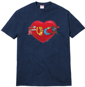 "Size Large Supreme F*** Love Tee ""Navy"""
