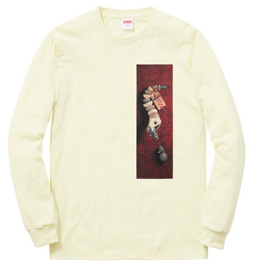 "Size Large Supreme Mike Hill Snake Trap Long Sleeve Tee ""Pale Yellow"""