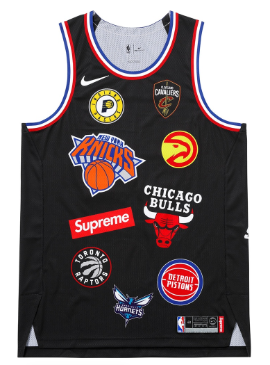 "Size Large Supreme Nike NBA Teams Authentic Jersey ""Black"""