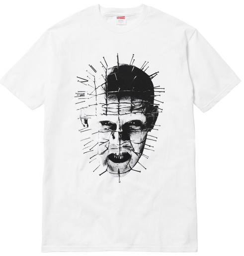 "Size Extra Large Supreme Hellraiser Pinhead Tee ""White"""