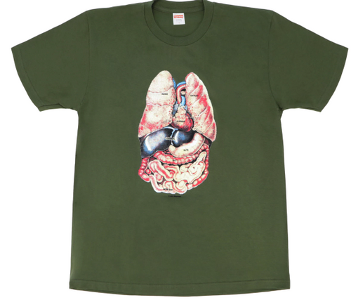"Size Large Supreme Guts Tee ""Olive"""