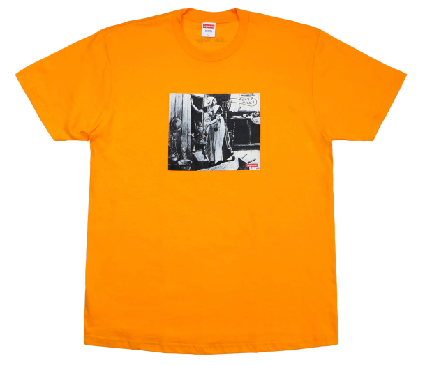 "Size Large Supreme Mike Kelly Hiding From Indians ""Bright Orange"""
