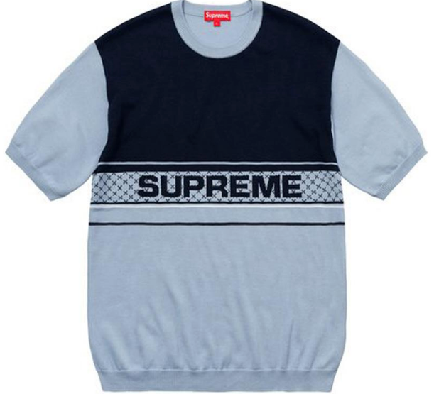 "Size Large Supreme Chest Logo Knit Top ""Light Blue"""