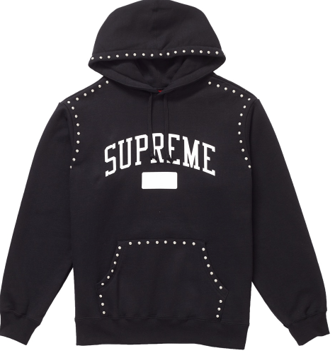 "Size Medium Supreme Studded Hoodie ""Black"""