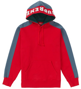 "Size Medium Supreme Paneled Hoodie ""Red"""
