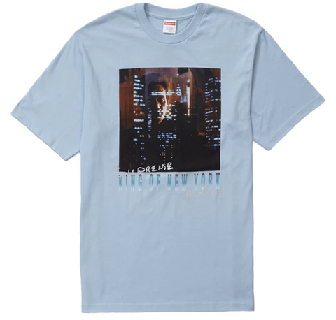 "Size Large Supreme King of New York Tee ""Light Blue"""
