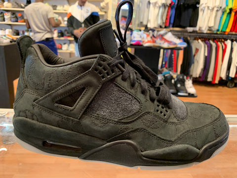 "Size 10.5 Air Jordan 4 KAWS ""Black"""