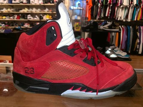 "Size 12 Air Jordan 5 Raging Bull ""Red Suede"""