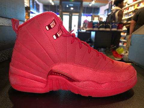 "Size 7Y Air Jordan 12 ""Red Suede"""