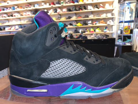 "Size 10 Air Jordan 5 ""Black Grape"" Brand New"