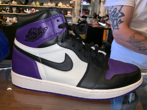 "Size 9 Air Jordan 1 ""Court Purple"""