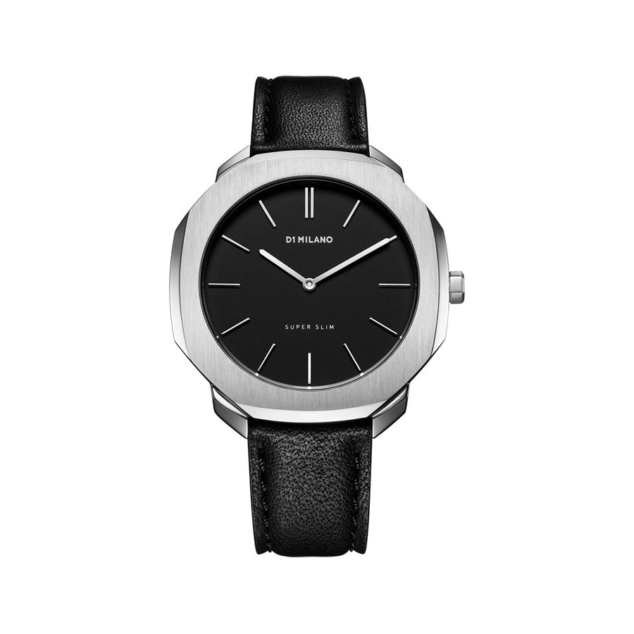 D1 Milano Super Slim Leather 36mm Front View