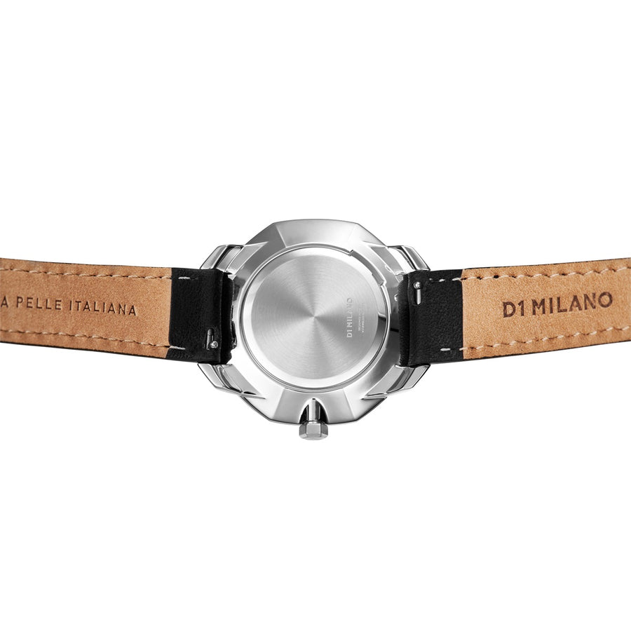 D1 Milano Super Slim Leather 36mm Back View