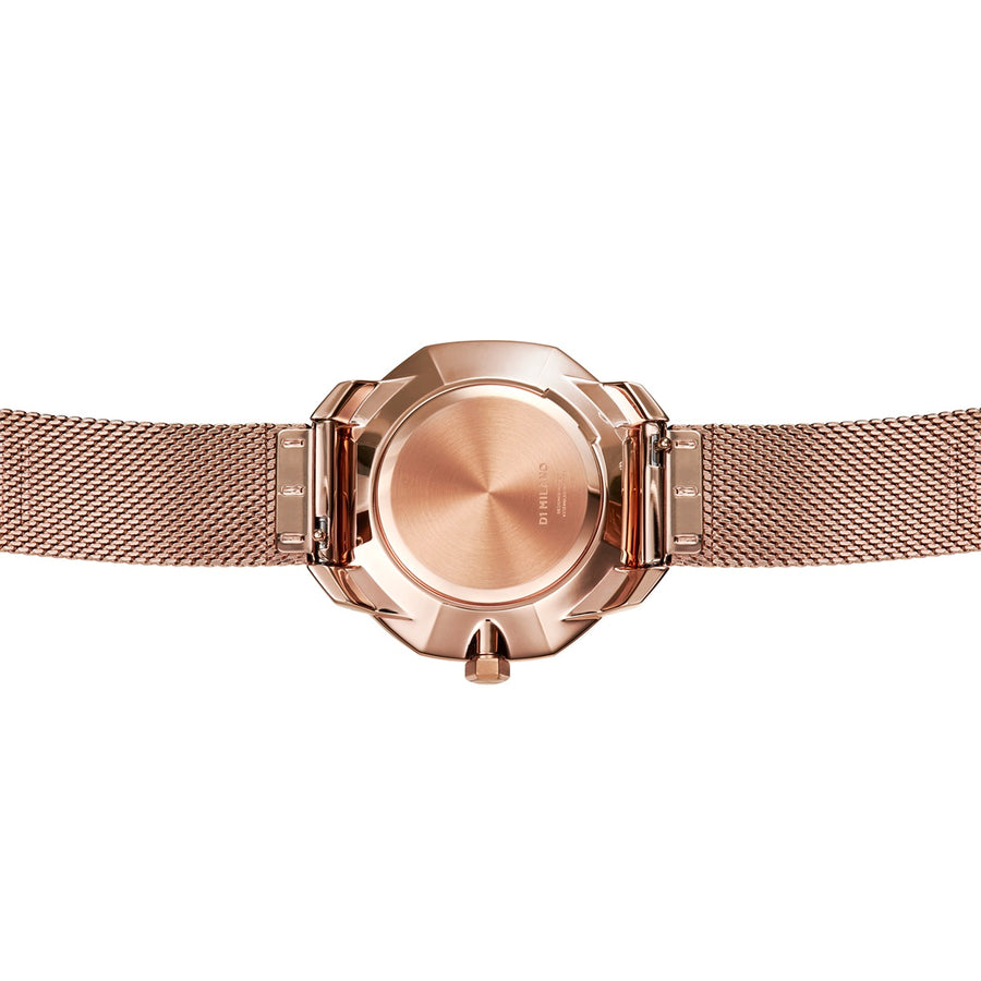 D1 Milano Rose Gold Super Slim Milanese Bracelet 36mm Back View