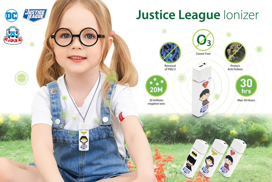 Ridaz Justice League Air Purifier Features Model View