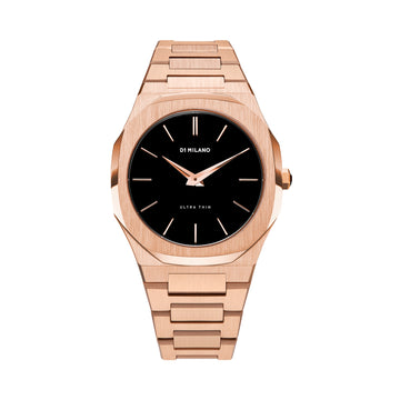 D1 Milano Rose Gold Ultra Thin Bracelet 40mm Front View