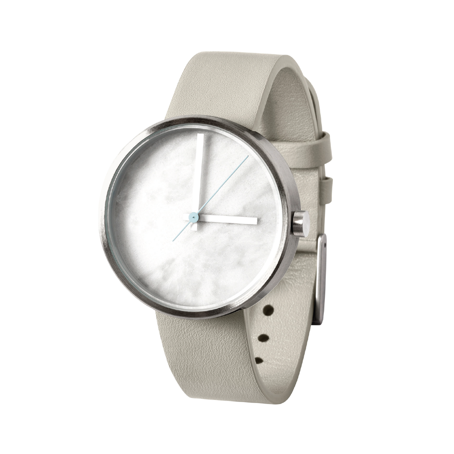 AÃRK Watch, Marble - Carrara, Side View