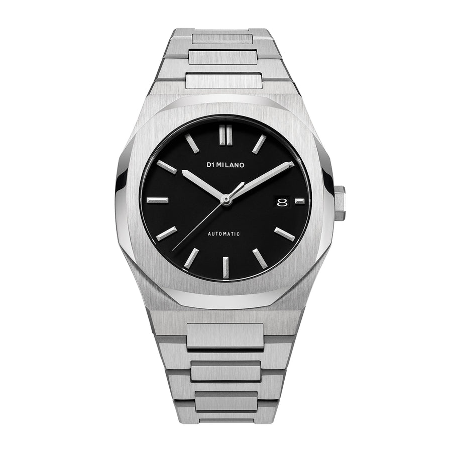 D1 Milano Silver Automatic Bracelet 41.5mm Front View
