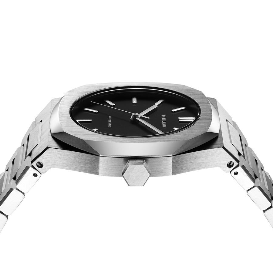D1 Milano Silver Automatic Bracelet 41.5mm Side View