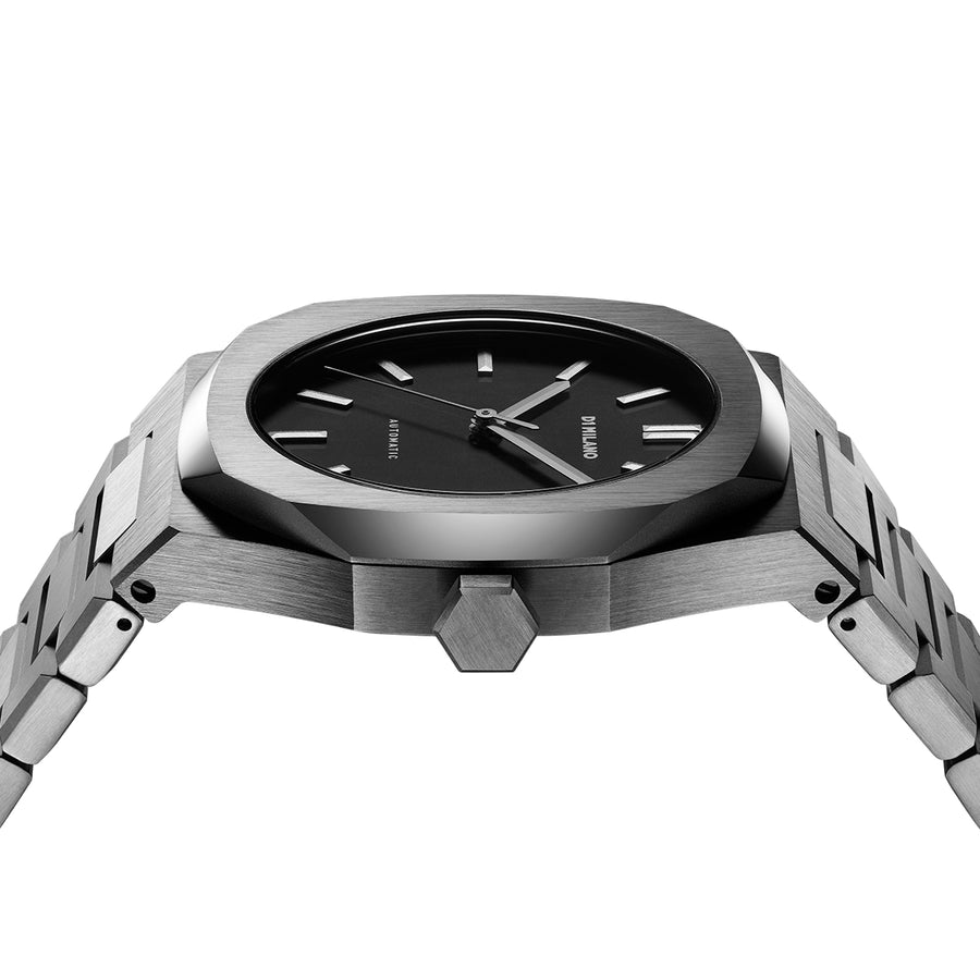 D1 Milano Gun Metal Automatic Bracelet 41.5mm Side View