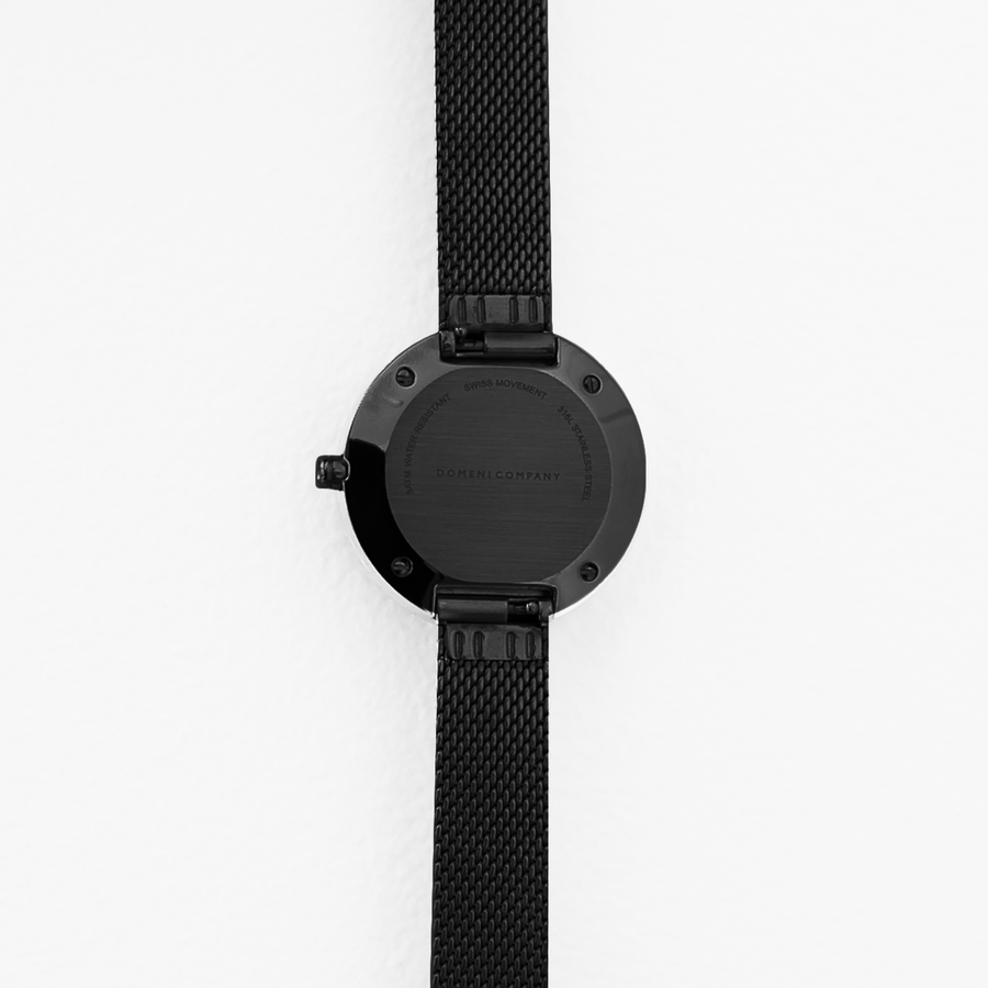 Domini Co Watch, BLM01-32, Back View