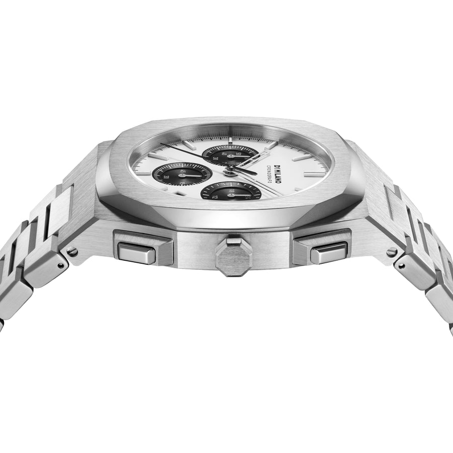 D1 Milano Panda Chronograph Bracelet 41.5mm Side View