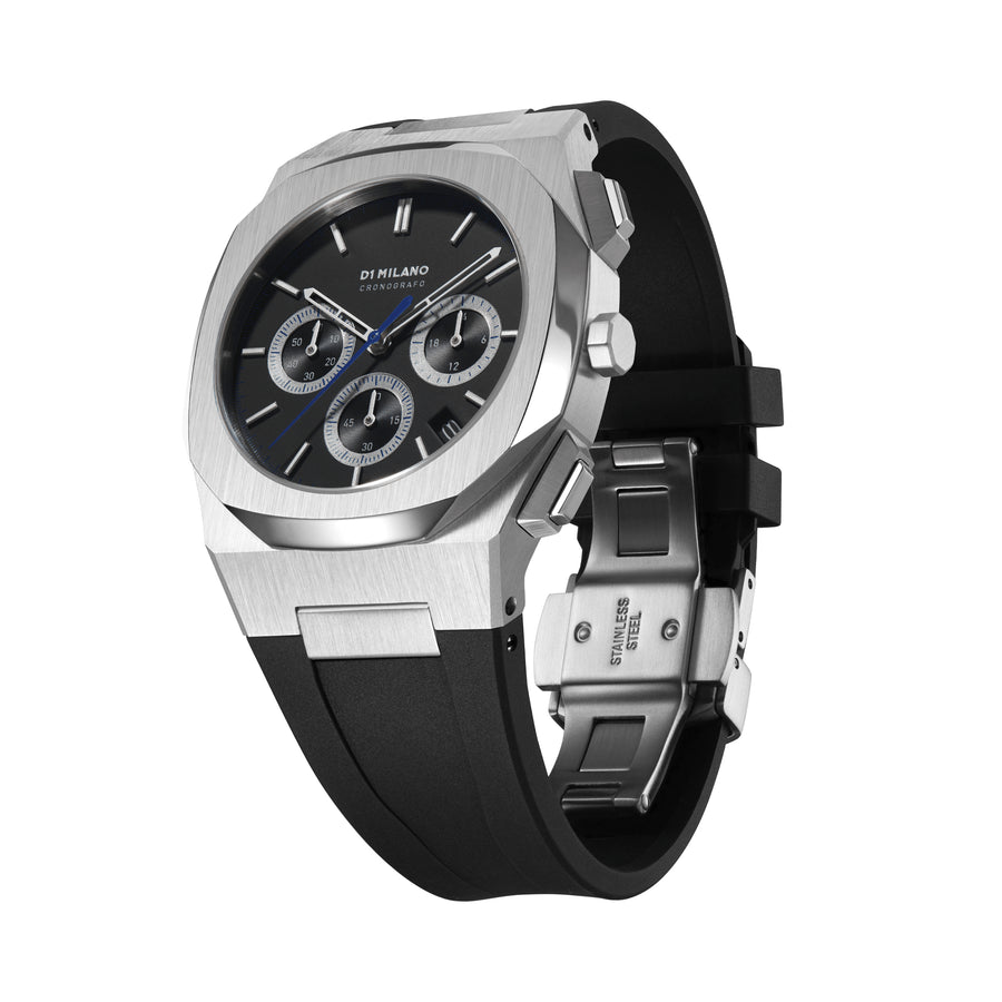 D1 Milano Module Chronograph Rubber 41.5mm Side View 2