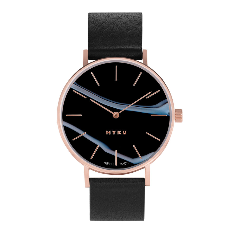 Black Onyx Rose Gold