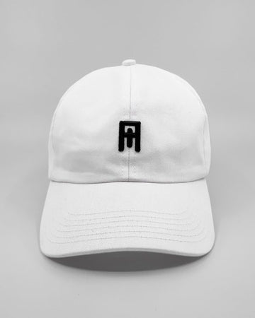 White/ Black Cult Cap Front View