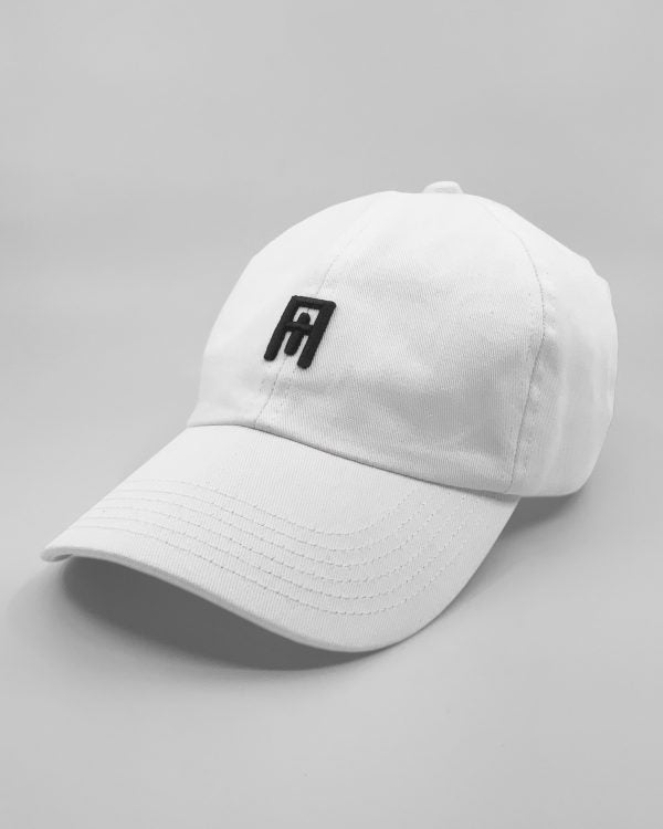 White/ Black Cult Cap Side View