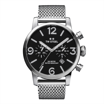 TW Steel Steel Bracelet Maverick 45mm front view