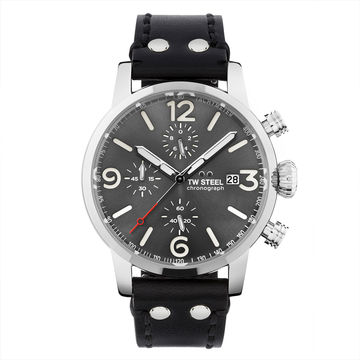 TW Steel Steel Leather Maverick 45mm front view