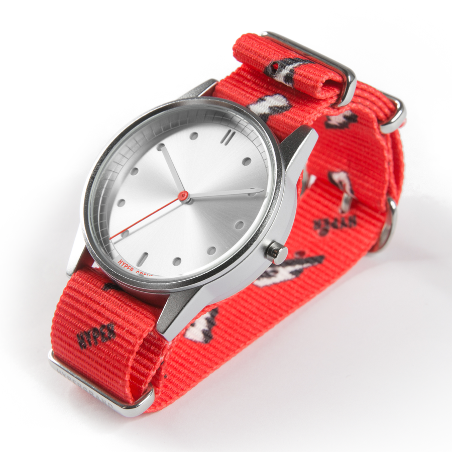 Hypergrand 01NATO Bolt Red 38mm Side View