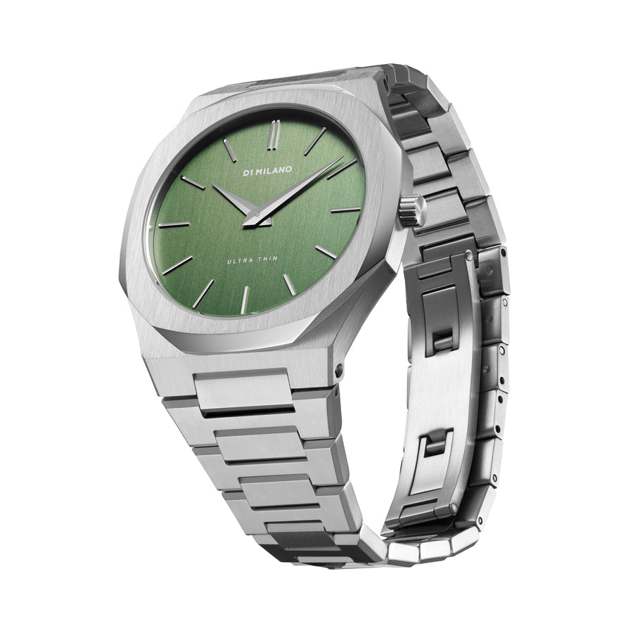 D1 Milano Moss Ultra Thin Bracelet 40mm Side View 2
