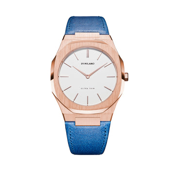 D1 Milano Ischia Ultra Thin Classic Leather 38mm Front View