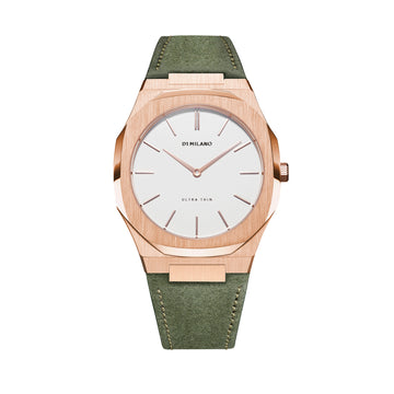 D1 Milano Ulivo Ultra Thin Classic Leather 38mm Front View