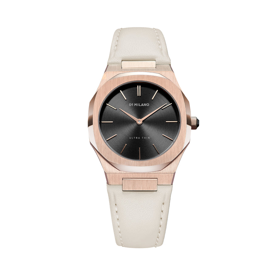 D1 Milano Onix Ultra Thin Classic Leather 34mmFront View