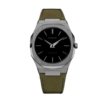 D1 Milano Mimetico Ultra Thin Classic Nylon 40mm Front View