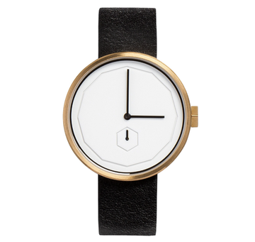AÃRK CLASSIC NEU GOLD STEEL LEATHER 38MM