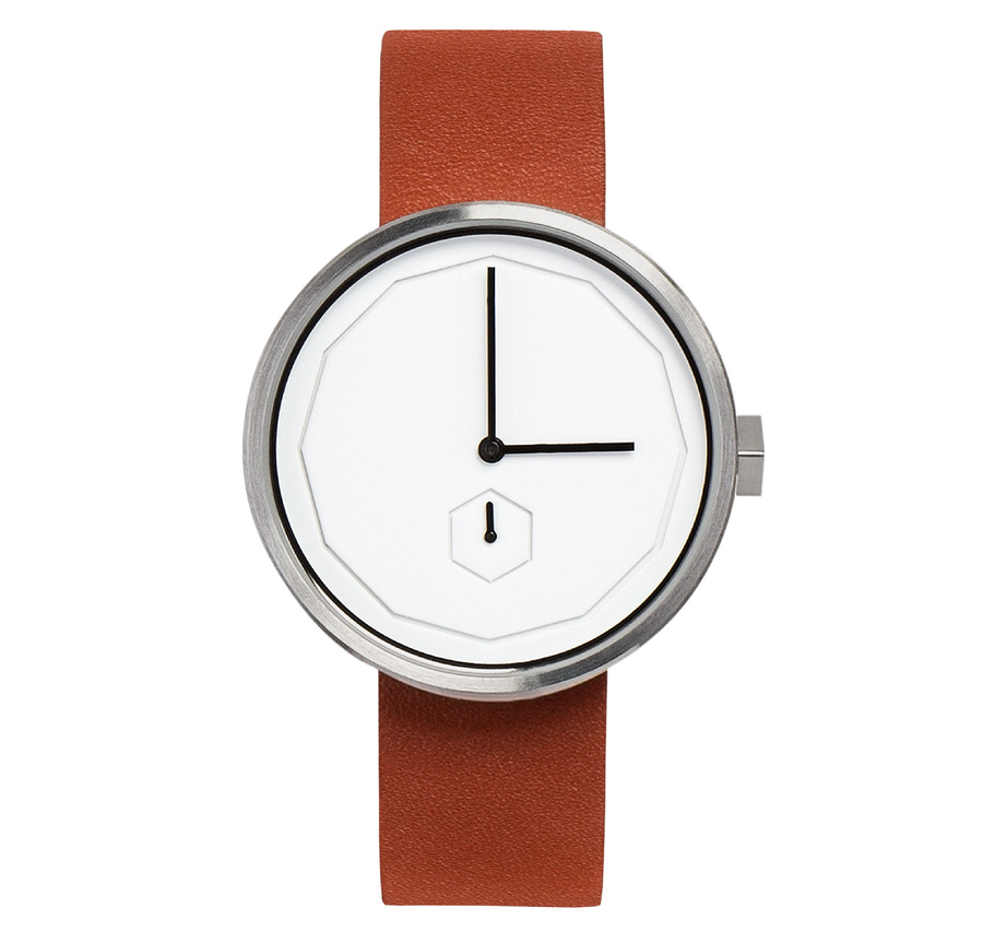 AÃRK CLASSIC NEU STEEL LEATHER 38MM