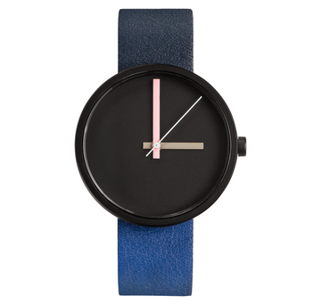 AÃRK MULTI MIDNIGHT BLACK STEEL LEATHER 38MM