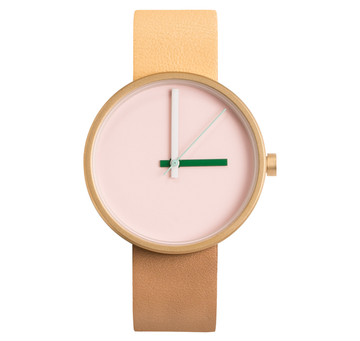 AÃRK MULTI MORNING GOLD STEEL LEATHER 38MM
