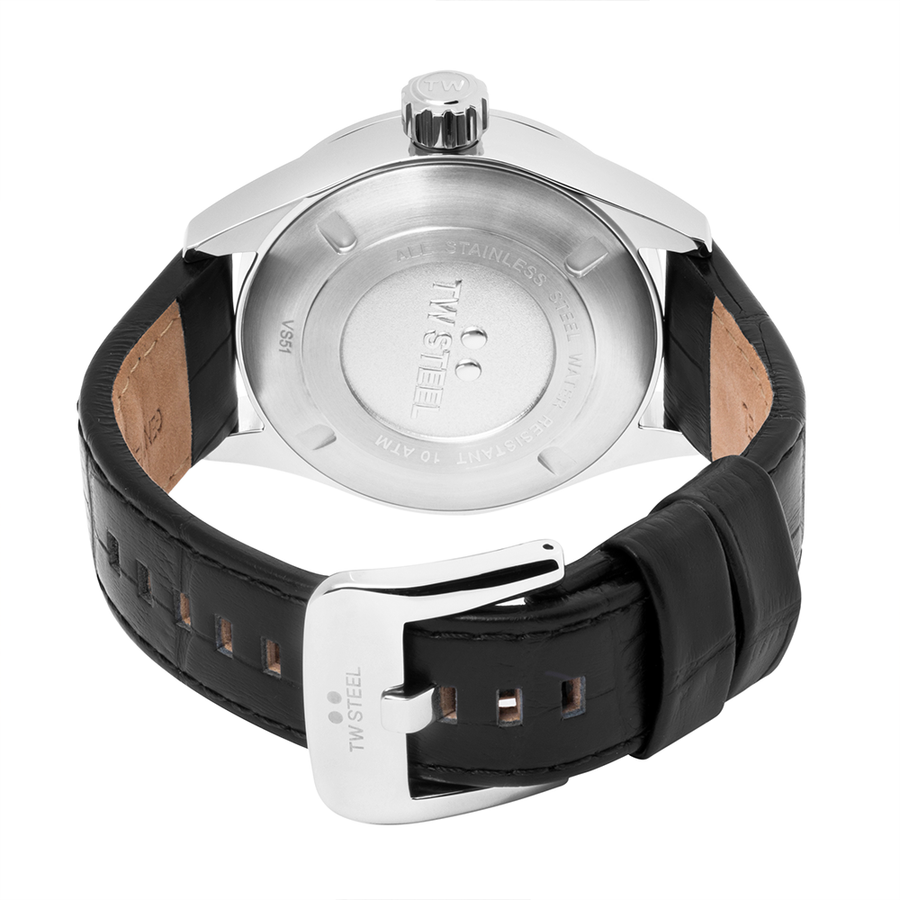 TW Steel Steel Leather Volante 45mm back view